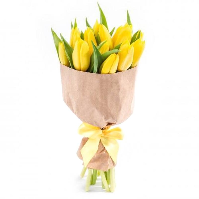 Букет из трех 5 тюльпанов фото, заказ викулово